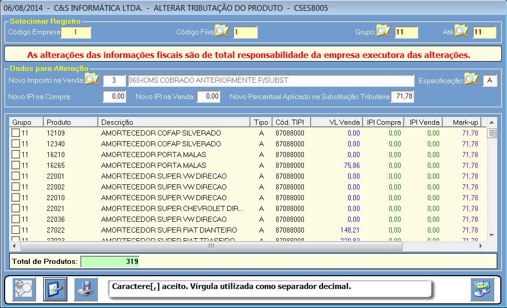 CSESB005_CIS_ERP_Alterar_mkp_iva_st_04