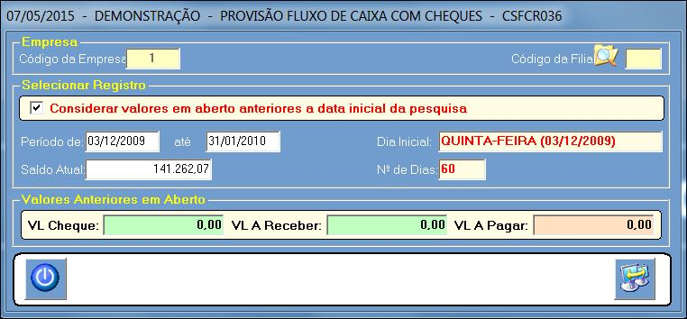 CSFCR036_CIS_ERP_RELATORIO_PROVISÃO_FLUXO_CAIXA_COM_CHEQUES_01