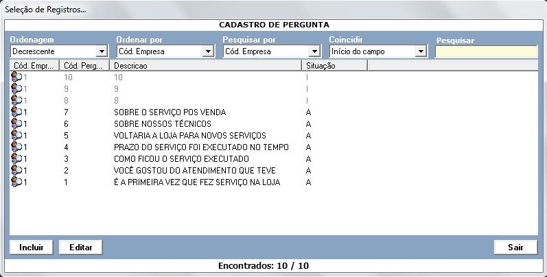 CSPDO039_SelecaoRegistros