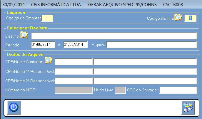 CSCTB008_CIS_ERP_Gerar_Sped_Pis_Cofins