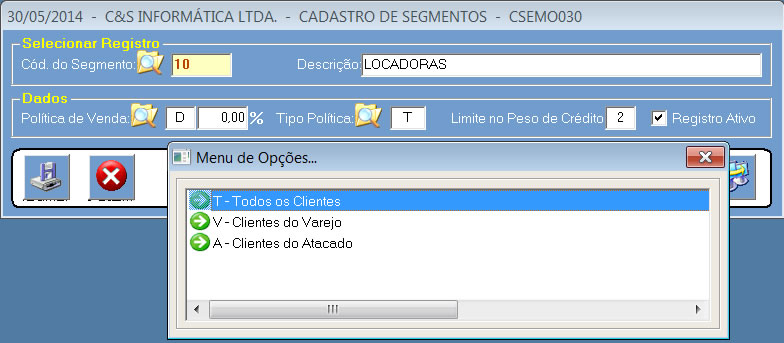 CSEMO030_CIS_ERP_Cadastrar_Segmento_Cliente