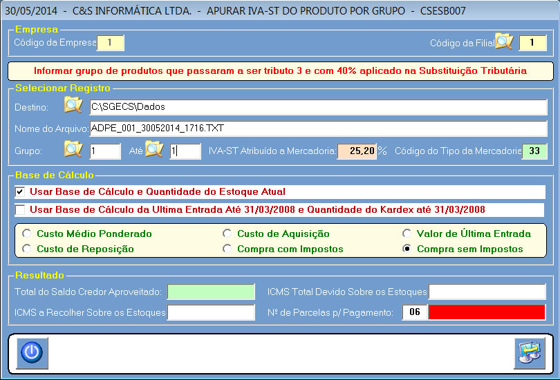 CSESB007_CIS_ERP_Apurar_IVA-ST