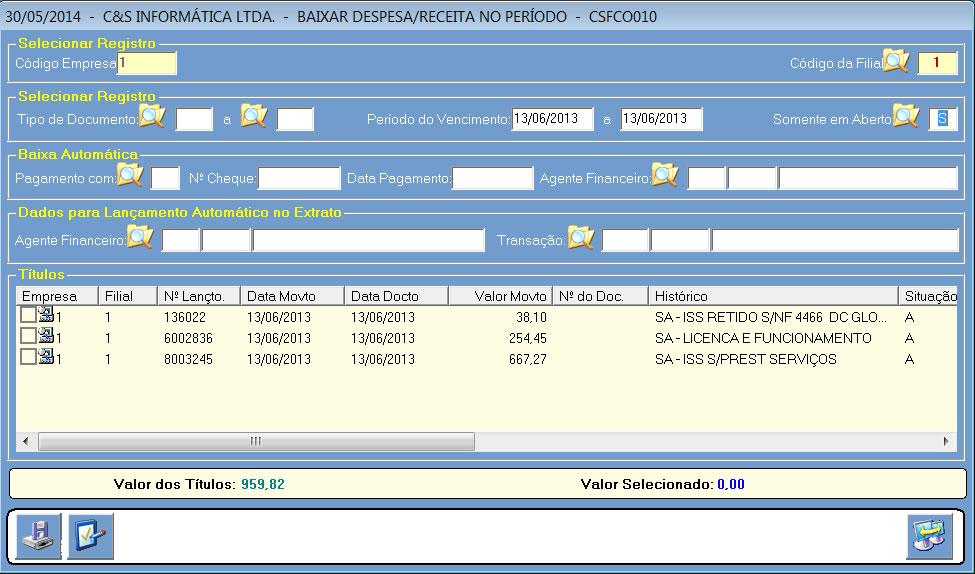 CSFCO010_CIS_ERP_Lancamento_Extrato